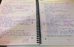 Notes from the structural edits for The Three.