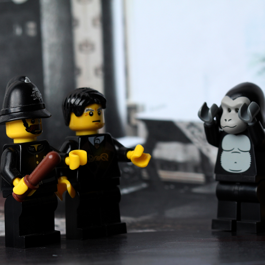 Rue Morgue  in LEGO form