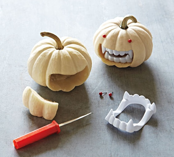 Vampire pumpkin Halloween craft