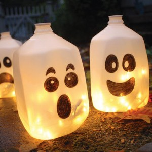 Ghost milk bottles