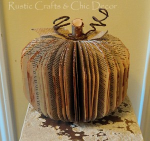 Book pumpkin Halloween craft