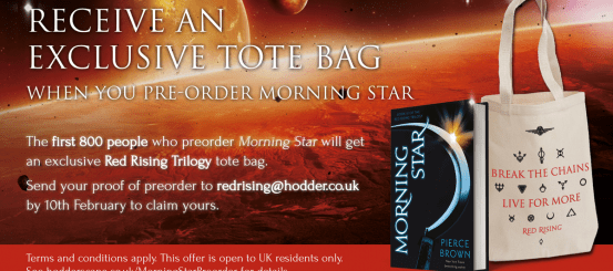How to get an exclusive RED RISING tote bag