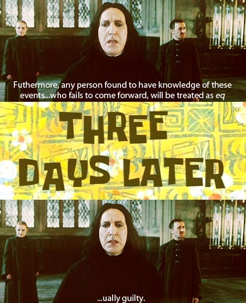 Snape dramatic pause