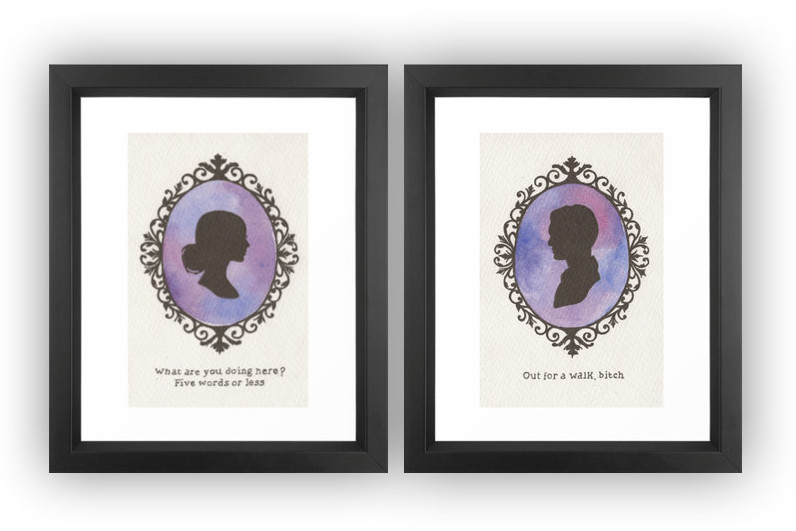 Buffy and Spike cameo prints