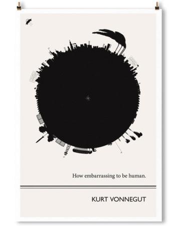 Kurt Vonnegut Print