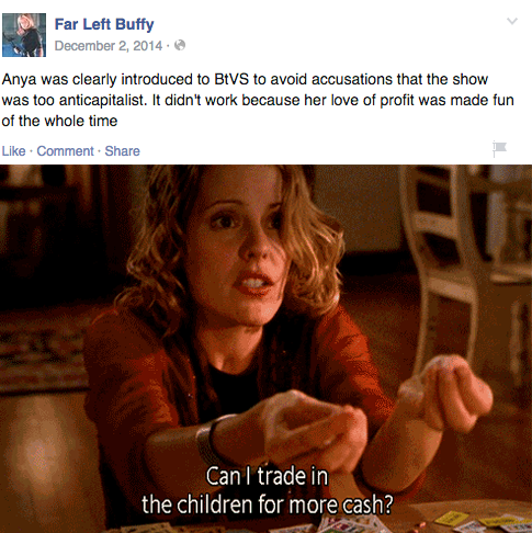 Anya Communism Far Left Buffy