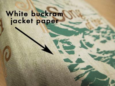 White Buckram jacket paper