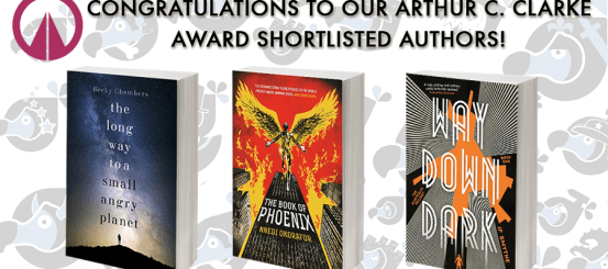 CONGRATULATIONS TO OUR THREE CLARKE AWARD SHORTLISTED TITLES