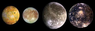Galilean moons. NB: they will probably not be this clear...