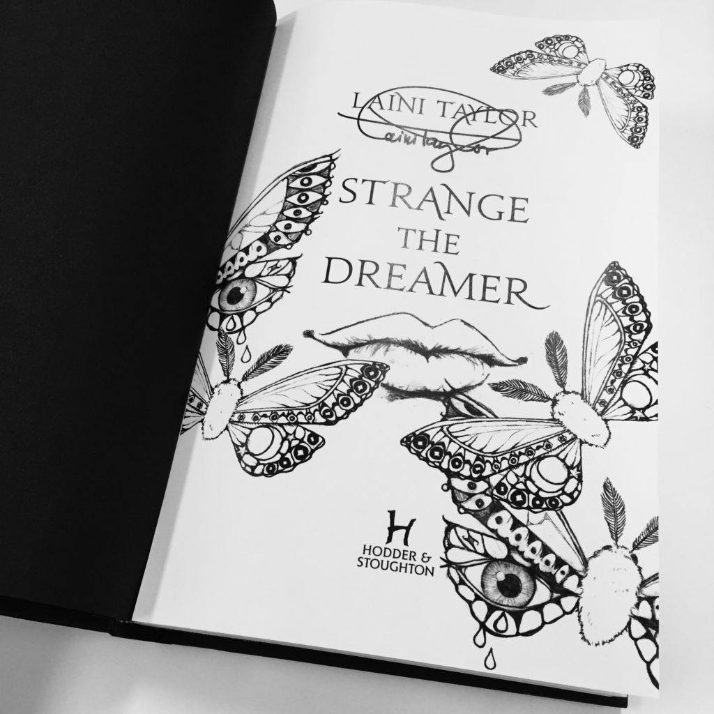 Strange The Dreamer first edition illustration