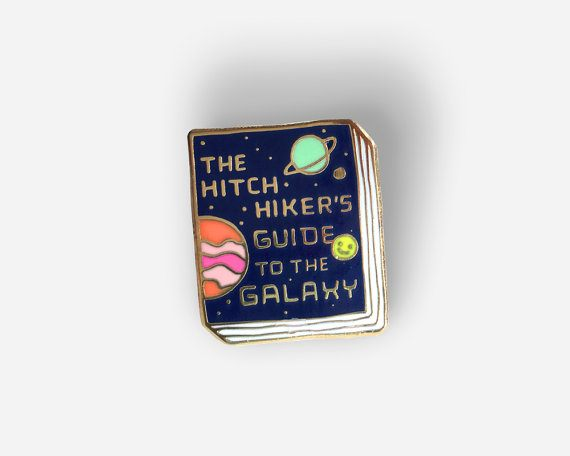 The Hitchikers Guide Enamel Pin