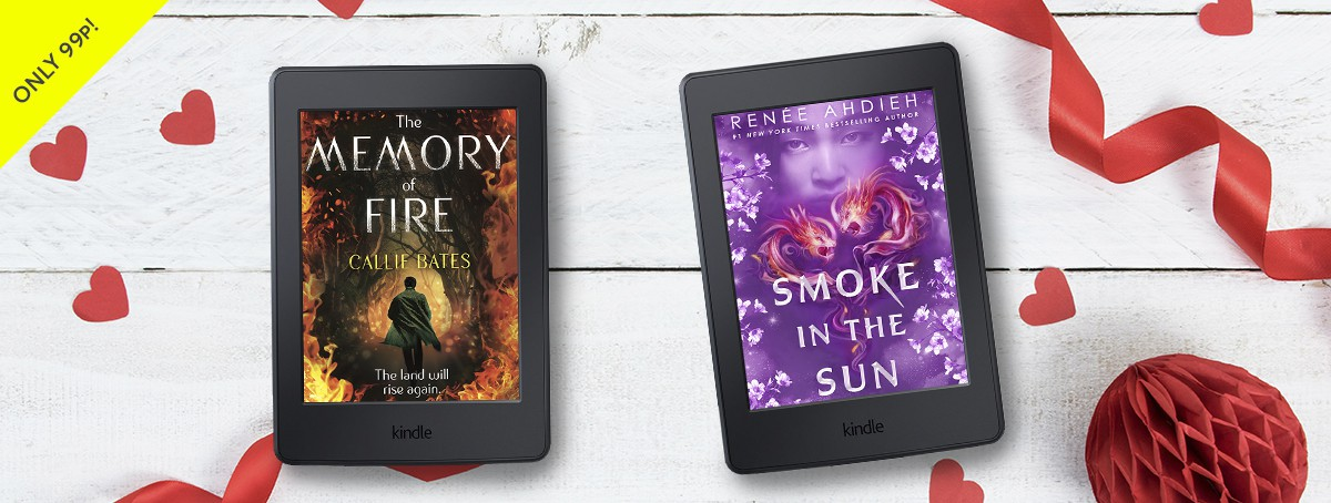 Only 99p: The Memory of Fire by Callie Bates and Smoke in the Sun by Renée Ahdieh